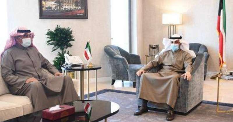 رئيس مجلس الأمة مرزوق الغانم يستقبل رئيس الوزراء