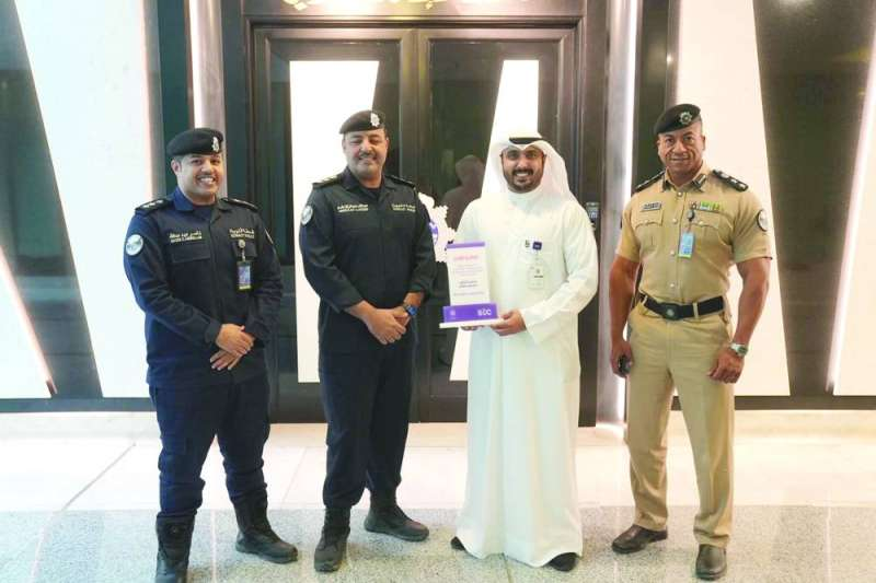 Ahmed Al-Nuwaibit during the honoring of the men of the interior